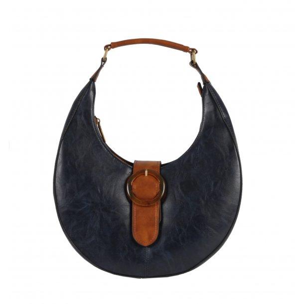 Rund taske - blå