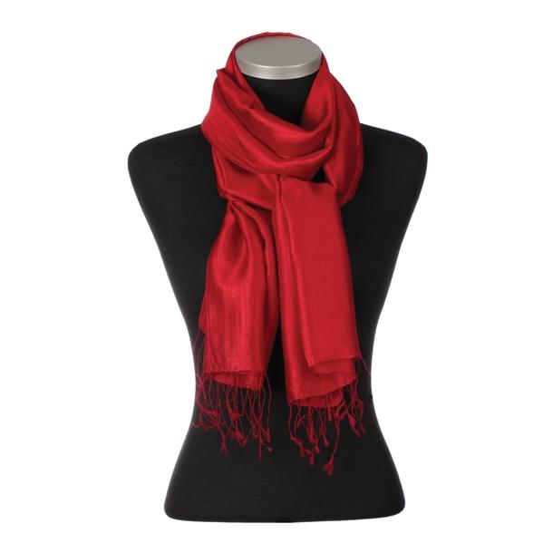 Camille 100% Silke, rød